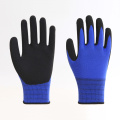 Polyester PU Labor Gloves with CE EN388