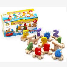 barato juguete de madera educativo del tren