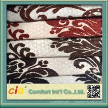 Tissu en chanille jacquard en tissu poli chinois pour le marché du Moyen-Orient