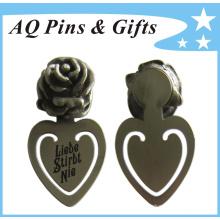 Горячая распродажа в форме сердца закладки с меткой Розы (закладка-009)