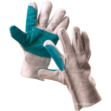 Full Cowhide Leather Industrial Safety Work Gloves (11127)