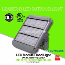 UL DLC Listed 185 Watt LED Outdoor Flood Light with Short / Long Bracket Mounting