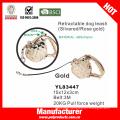 Gold Color Retractable Dog Leash (YL83447)