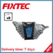 Fixtec Hand Tools 8PCS Carbon Steel Offset Ring Spanner Set