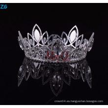 Alto Qulity Zhanggong cristal de fantasía accesorios para el cabello de los niños completa corona redonda