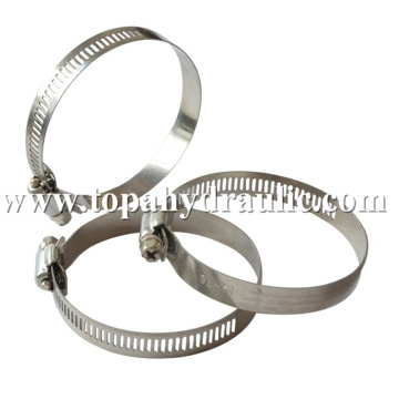 Compression thin band skinny hose clamps