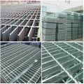 Grade de piso de aço aberto galvanizado, grade de passarela de aço galvanizado, catálogo de grades de aço