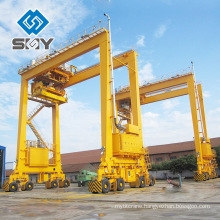 Customized Rubber Tyred 20 ft 40 ft Container Gantry Crane