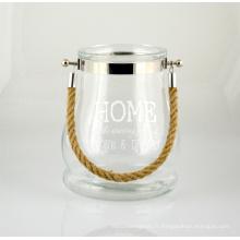 Grande et belle lanterne en verre