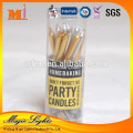 Stylish Colorful Thin Pillar Taper Candle With High Quality Certificates