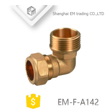 Encaixe de tubulação de bronze do cotovelo do conector rápido fêmea de EM-F-A142 para a tubulação do pvc