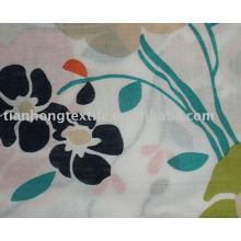 100% algodón tejido impreso flor de la tela de la cortina de la impresión