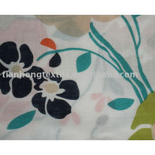 100% хлопок ткань печати печати занавес ткани цветок
