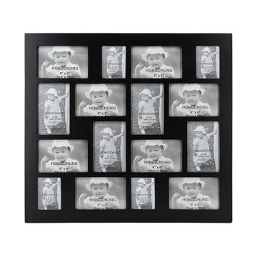 Marco de Collage Negro con 16 Apertura