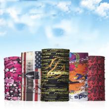 A venda quente customed o lenço tubular do logotipo fez malha o bandana sem emenda do tubo