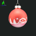 new designs glass hanging ornament ball for Christmas