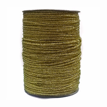 STOCK Metallic gold stranded cord with cutton core wick STOCK