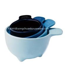 Набор из четырех мерных чашек-керамики