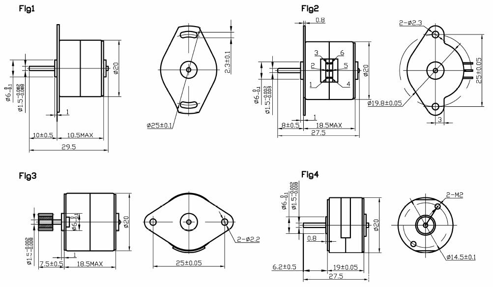 2 phase windings small stepper motors / 5v stepper motor for card reader