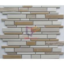 Strip Shape Ceramic with Marble Mosaic (CFS657)