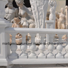 White Carrara Stone Sculpture Stair Balustrade (SY-B002)