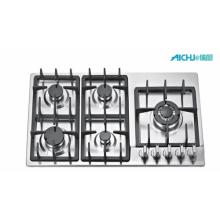 Stainless Steel 5 Burners Big  Gas Stove