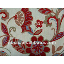 tecido de cortina flocado e impresso em poliéster 15% algodão 85%