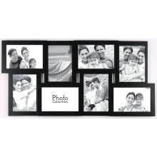 8 ouverture en bois Collage Photo Frame