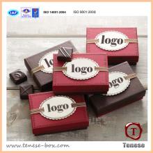 Caixa de presente de papel de chocolate com design próprio