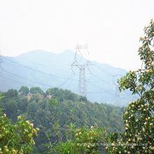 Tour de transmission d'énergie en acier à angle unique à 220 Kv