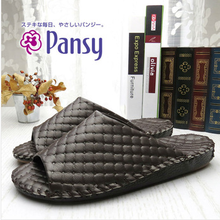 Slippers Business Style PVC Leather Man Indoor Slippers Pansy High End Cozy No Slip Men's Slippers