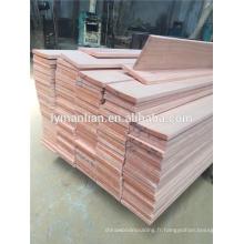 panneau en bois de cerisier artificiel / bois de construction scié par cerisier artificiel
