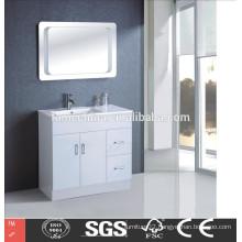 high glossy white MDF plastic bathroom cabinets