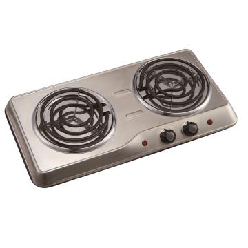 Placa de cocción doble de acero inoxidable
