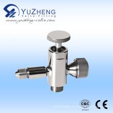 Válvula de muestreo de manómetro de palanca de líquido de acero inoxidable