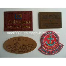 Тисненые метки / Логотип Кожаные этикетки / Кожаные патчи для джинсовой кожи Этикетки