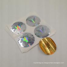 etiqueta engomada de encargo del holograma de la impresión del laser autoadhesiva de alta calidad fábrica