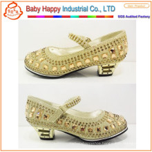 sequins high heel shoes for children and kids