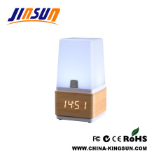 Warm Light Table Led Lamp With Alarm Clock