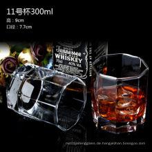 Verschiedene Weinglas-Cup, Glasbecher für Likör, Wasser ohne Griff