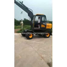 China Cheap Wheel Hydraulic Grab Excavator with Rotating Grapple