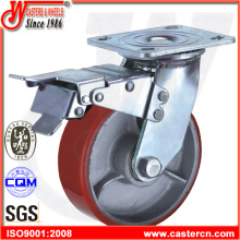 Heavy Duty Swivel PU Caster with Total Brake