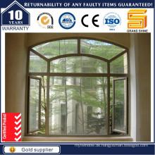 Aluminium-Thermo-Break-Swing-Aluminium-Draht-Netting-Fenster mit 1,4 mm Dicke