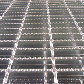 Berputar Hot Galvanized Metal Walkway Steel Grating Weight