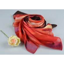 Lenço de seda 15060010801-2 quadrado de seda da forma do lenço da listra de 100%