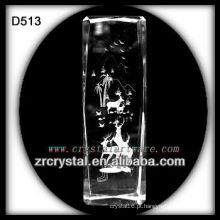 K9 Laser veado dentro bloco de cristal
