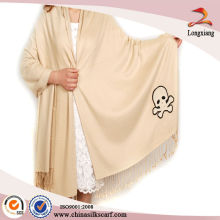 solid jacquard silk viscose shawl