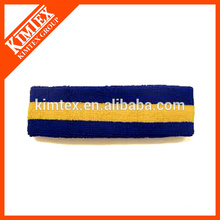 Terry cotton custom embroidery sweatbands