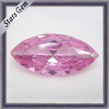 Бриллиантовая розовая маркиза с синтетическим камнем кубического циркония