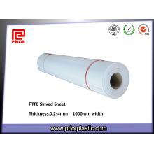 Revestimientos de resistencia química Hoja de teflón PTFE biselado